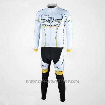 2009 Cycling Jersey Trek Black and White Long Sleeve and Bib Tight