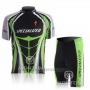2010 Cycling Jersey Specialized Green and Black Short Sleeve and Bib Short