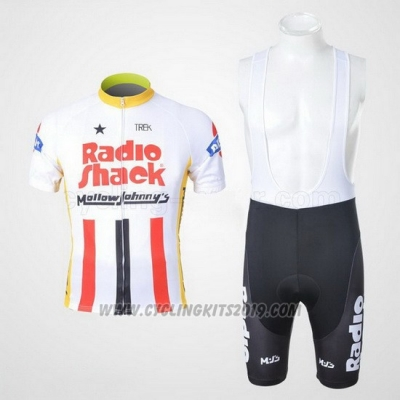2011 Cycling Jersey Johnnys White and Red Short Sleeve and Bib Short