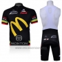2011 Cycling Jersey McDonalds Black and Yellow Short Sleeve and Bib Short