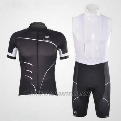 2012 Cycling Jersey Giordana Black Short Sleeve and Bib Short