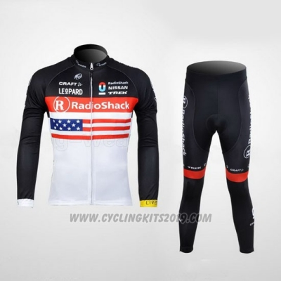 2012 Cycling Jersey Radioshack Campione The United States Long Sleeve and Bib Tight