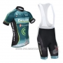 2013 Cycling Jersey Europcar Black and Blue Short Sleeve and Bib Short