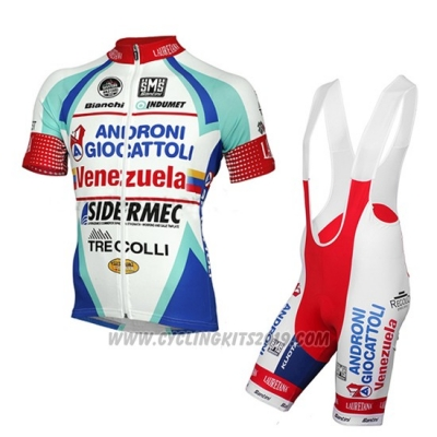 2014 Cycling Jersey Androni Giocattoli White Short Sleeve and Bib Short
