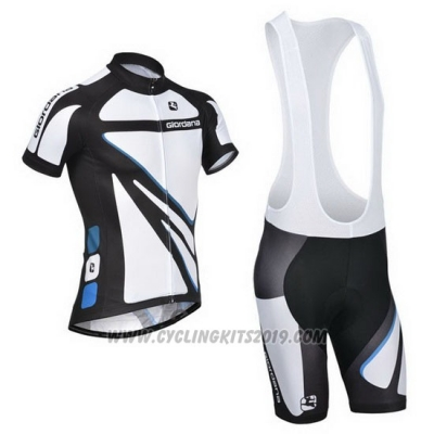 2014 Cycling Jersey Giordana White Short Sleeve and Bib Short