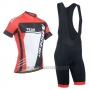 2014 Cycling Jersey Monton White Red Short Sleeve and Bib Short