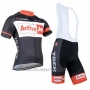 2014 Cycling Jersey Trek Black and Orange Short Sleeve and Bib Short