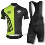 2016 Cycling Jersey Assos Black and Green Short Sleeve and Bib Short