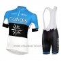 2016 Cycling Jersey Cofidis Sky Blue and Black Short Sleeve and Bib Short