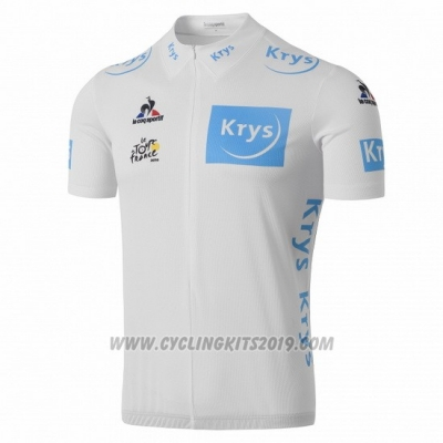 2016 Cycling Jersey Tour de France White Short Sleeve and Bib Short