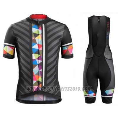 2016 Cycling Jersey Trek Bontrager Black and Red Short Sleeve and Bib Short