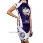 2016 Cycling Jersey Women Racing White and Blue Short Sleeve and Bib Short