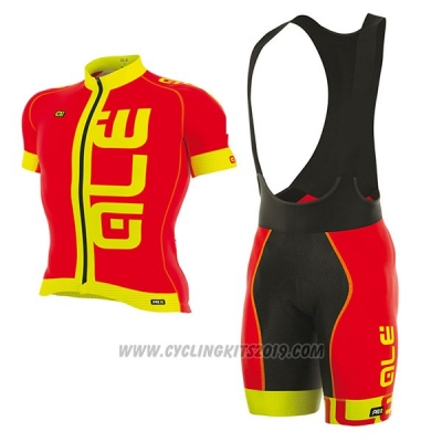 2017 Cycling Jersey ALE Graphics Prr Arcobaleno Red Short Sleeve and Bib Short