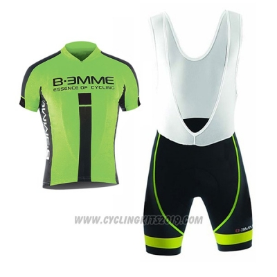 2017 Cycling Jersey Biemme Identity Black and Green Short Sleeve and Bib Short