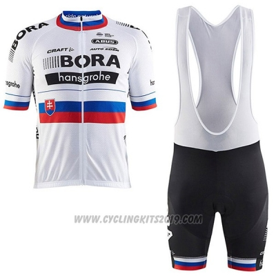 2017 Cycling Jersey Bora Campione Slovakia Short Sleeve and Bib Short