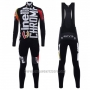 2017 Cycling Jersey Cinelli Chrome Black and White Long Sleeve and Bib Tight