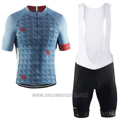 2017 Cycling Jersey Craft Monuments Gray Short Sleeve and Bib Short