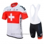 2017 Cycling Jersey IAM Campione Switzerland Short Sleeve and Bib Short