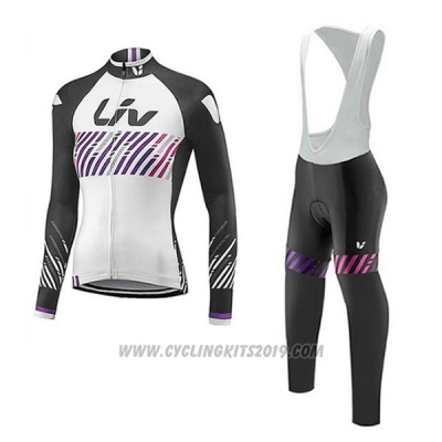 2017 Cycling Jersey Liv White Long Sleeve and Bib Tight