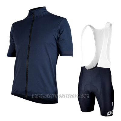 2017 Cycling Jersey POC Fondo Elements Blue Short Sleeve and Bib Short