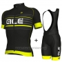 2018 Cycling Jersey ALE Black and Yellow Short Sleeve and Bib Short