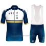 2018 Cycling Jersey Australia White and Blue Short Sleeve and Bib Short