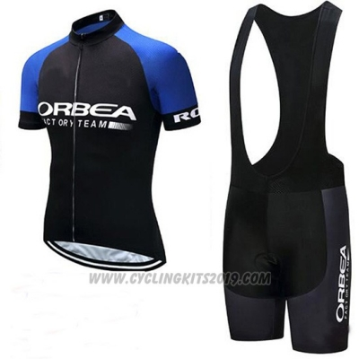 2018 Cycling Jersey Orbea Black and Blue Short Sleeve and Bib Short