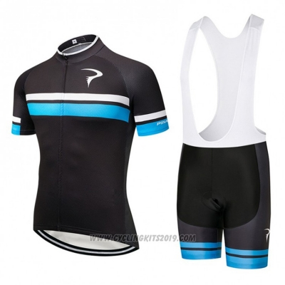2018 Cycling Jersey Pinarello Black and Blue Short Sleeve and Bib Short