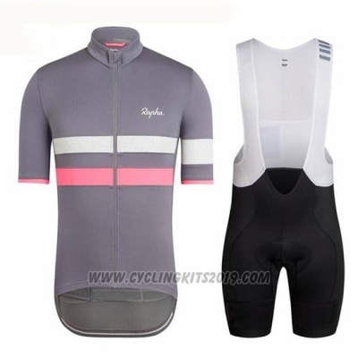 2018 Cycling Jersey Ralph Gray and Red Short Sleeve and Bib Short