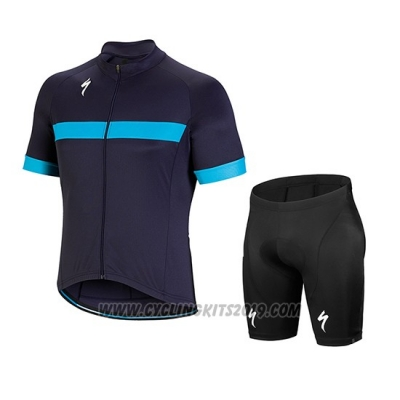 2018 Cycling Jersey Specialized Blue Short Sleeve and Bib Short