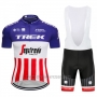 2018 Cycling Jersey Trek Segafredo Fuchsia White Red Short Sleeve and Bib Short
