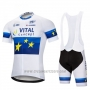 2018 Cycling Jersey Vital Concept White Blue Short Sleeve and Bib Short