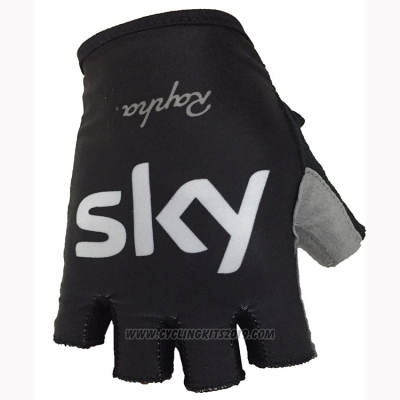 2018 Sky Gloves Cycling Black White