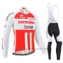 2019 Cycling Jersey Corendon Circus White Red Long Sleeve and Bib Tight