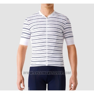 2019 Cycling Jersey La Passione Stripe White Short Sleeve and Bib Short