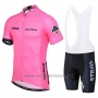 2019 Cycling Jersey STRAVA Pink Short Sleeve and Bib Short