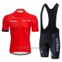 2019 Cycling Jersey Strava Red Short Sleeve and Bib Short