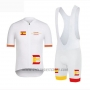 2019 Cycling Jersey Vuelta Espana White Short Sleeve and Bib Short