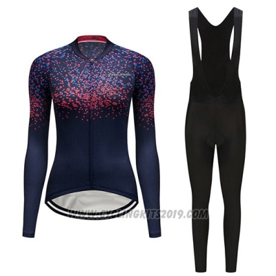 2019 Cycling Jersey Women Delle Fuchsia Long Sleeve and Bib Tight