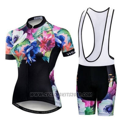 2019 Cycling Jersey Women Weimostar Black Green Pink Short Sleeve and Bib Short