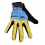 2020 Astana Full Finger Gloves Cycling Yellow Blue