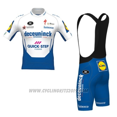 2020 Cycling Jersey Deceuninck Quick Step White Azul Short Sleeve and Bib Short
