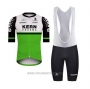 2020 Cycling Jersey Kern Pharma White Green Black Short Sleeve and Bib Short