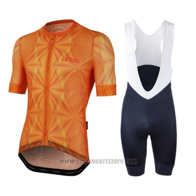 2020 Cycling Jersey Le Col Orange Short Sleeve and Bib Short