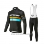 2020 Cycling Jersey Merida Black Blue Long Sleeve and Bib Tight