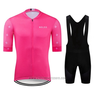 2020 Cycling Jersey Ndlss Pink Short Sleeve and Bib Short
