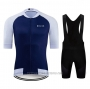 2020 Cycling Jersey Ndlss White Blue Short Sleeve and Bib Short