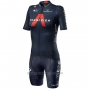 2020 Cycling Jersey Women INEOS Grenadiers Red Deep Blue Short Sleeve and Bib Short