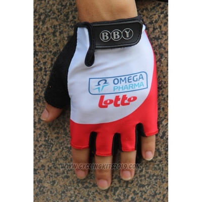 2020 Omega Pharma Lotto Gloves Cycling White Red
