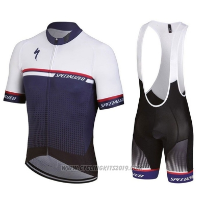 2021 Cycling Jersey Specialized Blue Short Sleeve and Bib Short